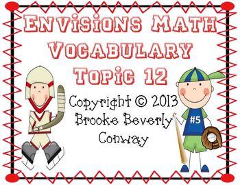 Envisions Grade 3 Topic 12 Vocabulary