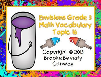Envisions Grade 3 Topic 16 Vocabulary
