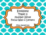 Envisions Grade 3 Topic 2 Focus Wall & Centers