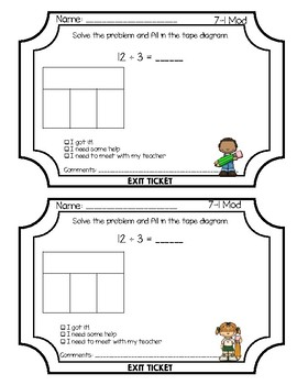 Envisions Grade 3 Topic 7 Exit Tickets