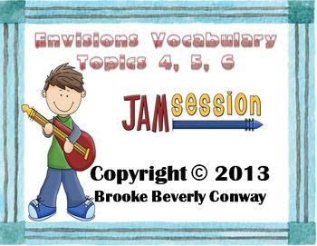Envisions Grade 3 Topics 4-5-6  Vocabulary