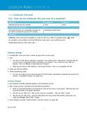 Envisions Grade 6 TOPIC 11 Lesson 11.4:  Estimate Percent Lesson Plans