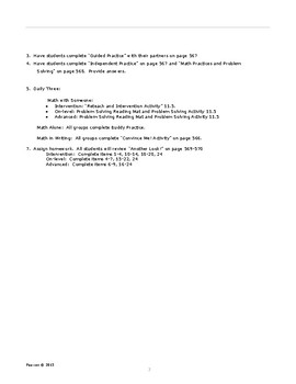 Envisions Grade 6 TOPIC 11 Lesson 11.5:  Find the Percent of a Number