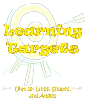 Envisions Learning Targets/I Can Statements (Units 9 -16)