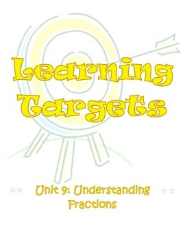 Third Grade Math Envisions Learning Targets/I Can Statemen