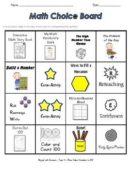 Envision Math Centers - Topic 4 - Place Value - Grade 2