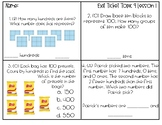 Envisions Math Exit Tickets Second Grade Topic 9 Numbers to 1,000