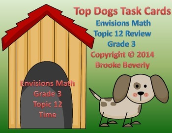 Envisions Math Grade 3 Topic 12 Task Cards Review