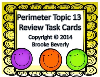 Envisions Math Grade 3 Topic 13 Perimeter Task Cards Review