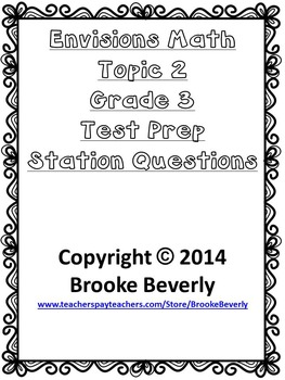 Envisions Math Topic 2 Math Question Stations