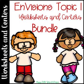 Envisions Math Topic 1 Second Grade Bundle CCSS 2.OA.B.2