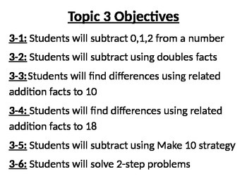 Envisions Topic 3 Objectives