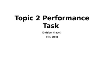 Envisions Topic 2 Performance Task