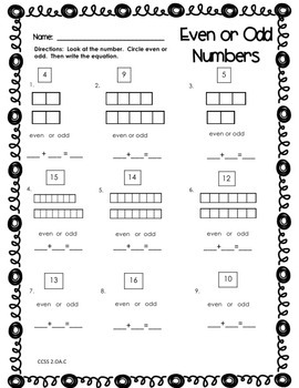 Envisions Math Topic 2 Second Grade - Work With Equal Groups