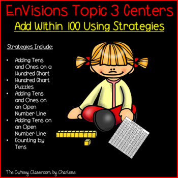 Envisions Topic 3 Add Within 100 Using Strategies Centers Second Grade