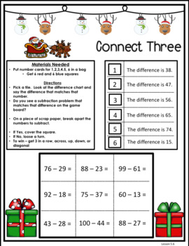 Envisions Topic 5 Subtract Within 100 Using Strategies Holiday Edition