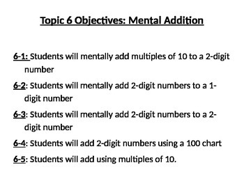 Envisions Topic 6 Objectives