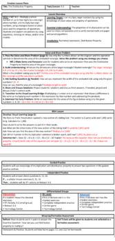 Envisions math 2.0 Topic 3-3 Lesson Plan 4th grade