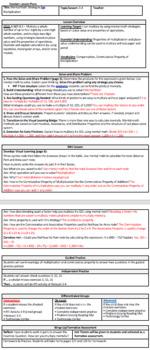 Envisions math 2.0 Topic 3-4 Lesson Plan 4th grade