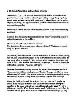 Envison Math  2.11 Lesson Plan