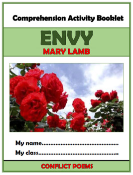 Envy - Mary Lamb - Comprehension Activities Booklet