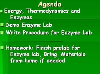 Enzyme Lab with Student Writen Procedure and Lab Analysis- Common Core and NGSS