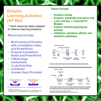 Enzyme Learning Package for AP/Advanced Biology