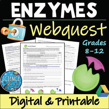 Enzymes WebQuest with Virtual Game Web-Lesson