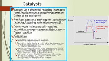 Enzymes and Catalysts PPT