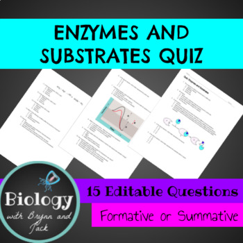 Enzymes and Substrates Quiz