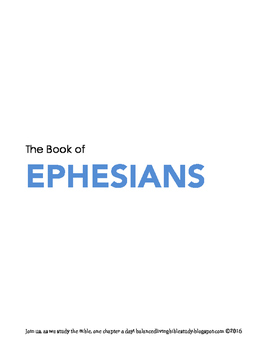 Ephesians WORD Guide