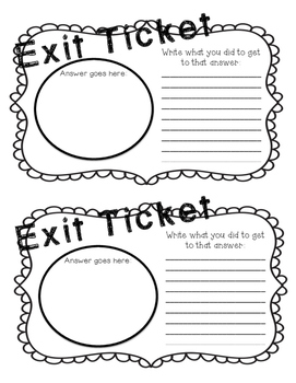 Epic Exit Tickets