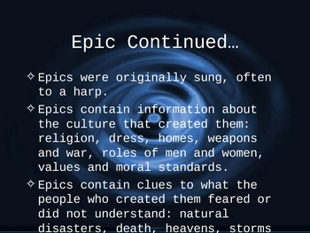 EPIC HERO and EPIC POWERPOINT PRESENTATION