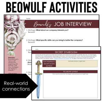 Beowulf Unit Plan with Beowulf Activities + Informational Text + Digital Options