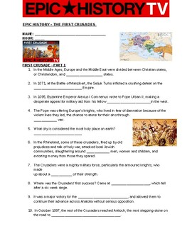 Epic History: First Crusades video questions Part 1 and Part 2