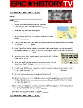 Epic History - Suez Canal Crises Part 1 and Part 2 Video Questions