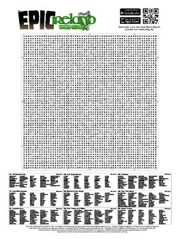 Epic Ireland Word Search