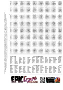 Epic Love Word Search