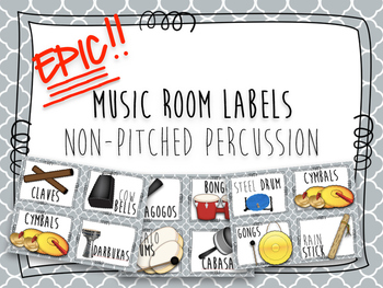Epic Music Labels- Non Pitched