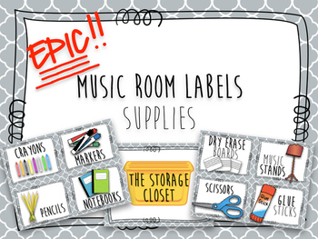 Epic Music Labels - Supplies