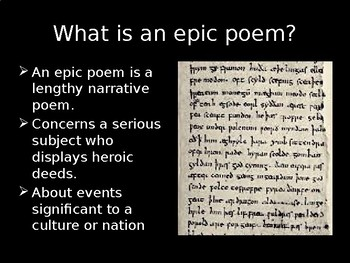 Epic Poetry and Conventions PP