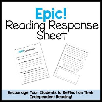 Epic! Reading Response Sheet