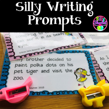 Silly Writing Prompts - TASK CARDS