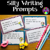 Silly  Creative Writing Prompts - TASK CARDS