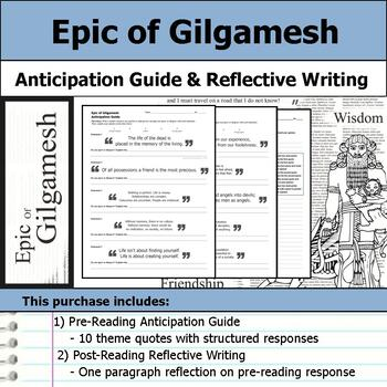 Epic of Gilgamesh - Anticipation Guide & Reflection Writing