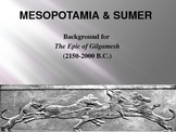 Epic of Gilgamesh Background PowerPoint & Mesopotamia w/ Group Activity