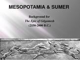 Epic of Gilgamesh Background PowerPoint & Mesopotamia w/ Group Activity