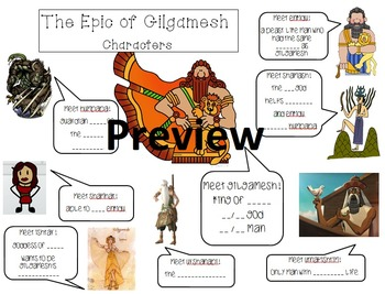 Epic of Gilgamesh Character Sheet