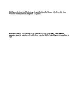 Epic of Gilgamesh--Complete Worksheet Packet and Test