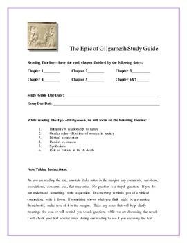 Gilgamesh essay topics